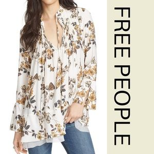 Free People Butterfly Print Smock Tunic